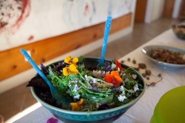 locust blossom salad